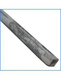 Fer carré en acier laminé 20 x 20 mm