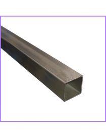 Tube inox brossé carré 40 x 40 mm