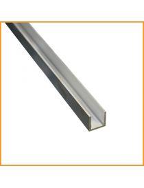 Profilé u aluminium 50×100